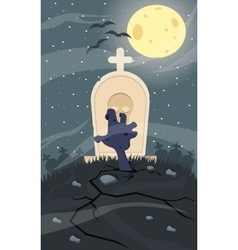 Zombie Creeping Out Halloween vector image