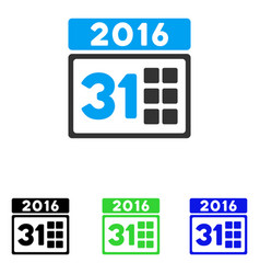 2016 month flat icon vector image