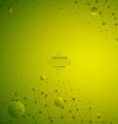 3d Abstract Technology Green Background vector