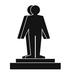 3d model of a man icon simple style vector