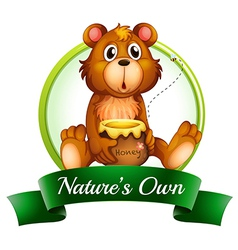 A natures own label with a bear vector