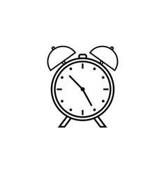 alarm clock line icon school and office element vector image