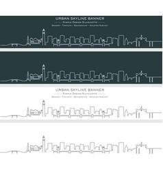 Alexandria single line skyline banner vector
