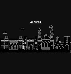 Algeria silhouette skyline algeria city vector