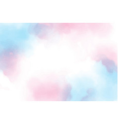 Beautiful sweet cotton candy twilight sky vector