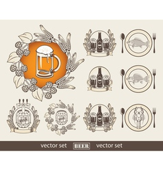 Beer and a fish vector