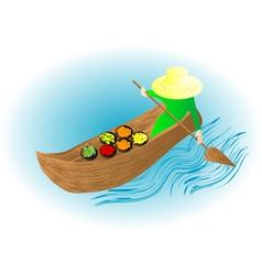 boat market vector image