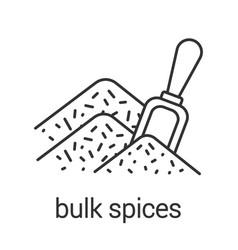 Bulk spices linear icon vector
