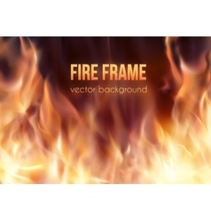 Burning fire frame Fiery Background vector image