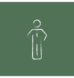 Businessman standing icon drawn in chalk vector