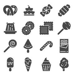 candy icon set 16 candy icons for web design vector image