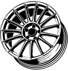 Car wheel 19 vector
