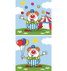 Cartoon clown design vector