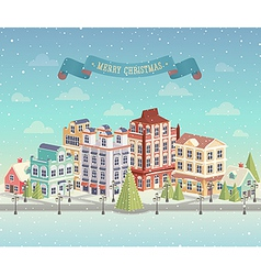 christmas day city vector image