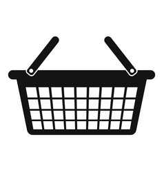 clothes basket icon simple style vector image