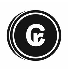 Coins cruzeiro icon simple style vector