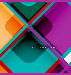 Colorful round squares modern geometric background vector