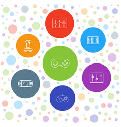 console icons vector image