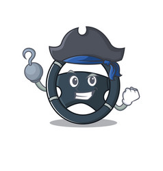 Cool and funny car steering cartoon style wearing vector