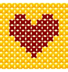 Cross Stitch Heart vector image