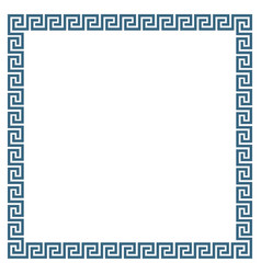 decorative square frame in greek style vector image