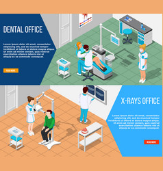 Dental solutions banners set vector