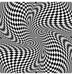 Design monochrome motion checkered background vector