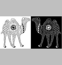 entangle or henna art an camel vector image