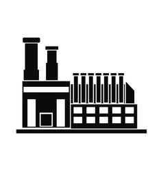 Factory building black simple icon vector