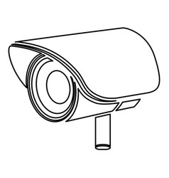 Figure video camera exterior icon vector
