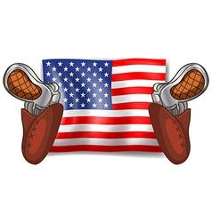 Flag and guns vector image