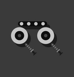 Flat icon design kids metal constructor in vector