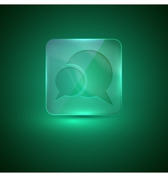 Glass icon with speech bubbles vector