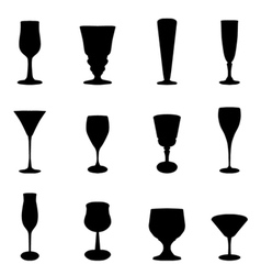 glass set vector image