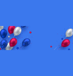 Glossy balloons in colors american flag vector