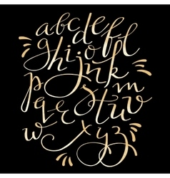 gold flourish alphabet vector image