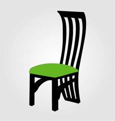 Graphic of designer dining chair vector image vector image