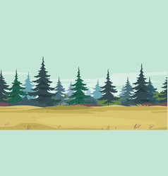 grass way along forest game background vector image
