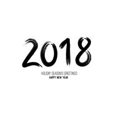 grunge brush 2018 new year vector image