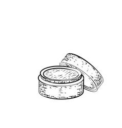 Hand drawn cream vector
