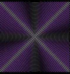 intersecting concentric circles moire noise vector image