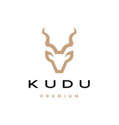 Kudu head logo icon vector