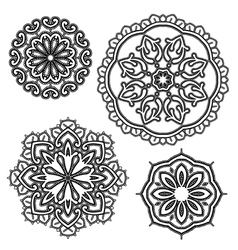 Lace round 15 380 vector