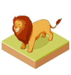 Lion isometric icon2 vector