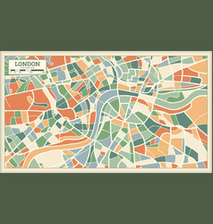 London england map in abstract retro style vector