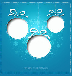 Merry Christmas greeting card with bauble Paper vector