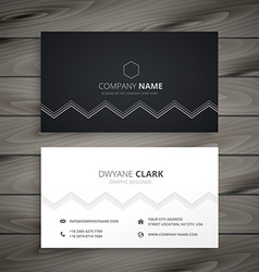 minimal dark business card vector image