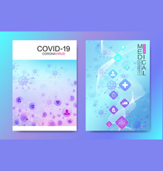 Modern health care cover template design vector