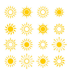 Modern sun set sunshine vector