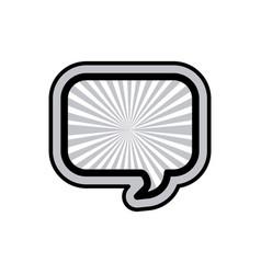 Monochrome rounded rectangular speech and black vector